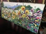 101 Tablou floral Pictura cu flori Tablou cu flori de camp, peisaj cu flori