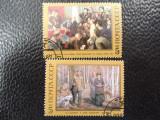Serie timbre pictura Leninn stampilate URSS timbre arta timbre picturi