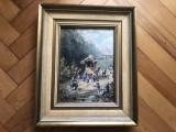 Tablou ,pictura veche germana in ulei ,rama din lemn