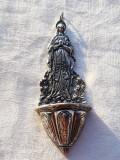ASPERSORIUM argint EXCEPTIONAL de colectie muzeala AVE MARIA masiv VECHI rar