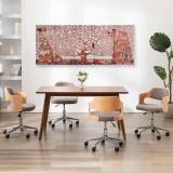 Set tablouri din pânză, imprimeu copac, galben, 200 x 80 cm, vidaXL