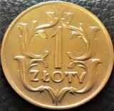 Moneda istorica 1 ZLOTY - POLONIA, anul 1929  *cod 5346