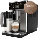 Espressor automat Saeco PicoBaristo Deluxe SM5573/10, Carafa lapte integrata, 13 selectii, 5 setari intensitate, Rasnita ceramica 12 trepte, AquaClean