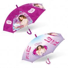 Umbrela Violetta pentru copii, manuala, format tip baston, 45 cm