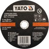 Disc debitat otel inoxidabil 180 x 1.5 x 22 mm Yato YT-6105