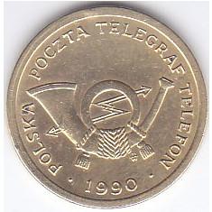 Jeton telefon Polonia 1990 aUNC
