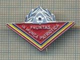 """Y 828 INSIGNA -PIONIERI -,,FRUNTAS IN MUNCA PATRIOTICA"""" - PENTRU COLECTIONARI"""