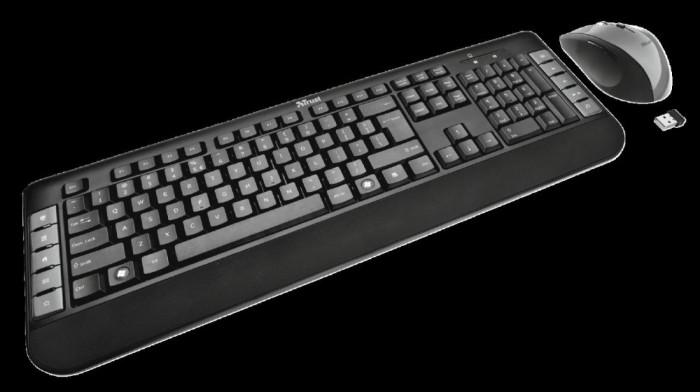 Set fara fir tastatura cu mouse trust tecla wireless multimedia