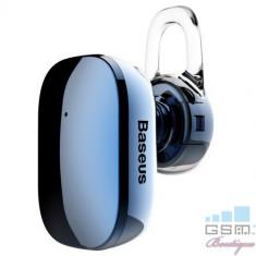 Casca Wireless Bluetooth Cu Microfon Stereo Samsung HTC LG BASEUS Albastra