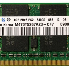 4 Giga PC2 Memorie Ram laptop M470T5267AZ3-CF7 Samsung DDR2 4GB/800 mhz SO-DIMM