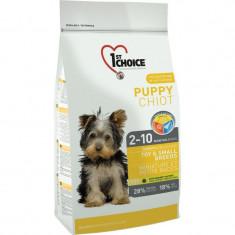 Hrana uscata pentru caini 1st Choice Talie mica & Toy, Puppy, 2.72kg