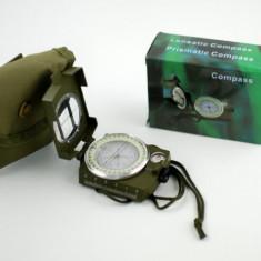 Busola profesionala cu lupa si compas - Busola militara cu saculet