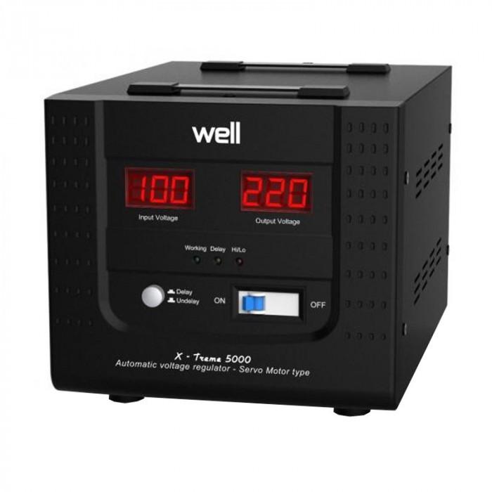 Stabilizator automat de tensiune servomotor Well, 5000VA/3000W