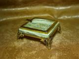 Tobacciana! Scrumiera Baroc onix, bronz dore, colectie, cadou, vintage