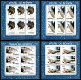Romania 1998, LP 1458 a, Pasari de noapte, coli mici de 6, MNH! LP 35,00 lei, Natura, Nestampilat