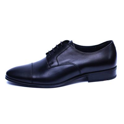 Pantofi barbati din piele naturala, Johnny, ANNA CORI, Negru, 43 EU foto