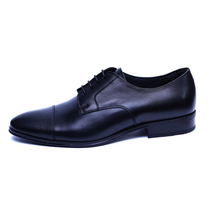 Pantofi barbati din piele naturala, Johnny, ANNA CORI, Negru, 43 EU