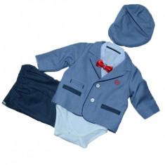 Costum de botez pentru baieti Colibra 7693062-AL, Albastru