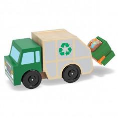 Masina de gunoi din lemn - Melissa and Doug