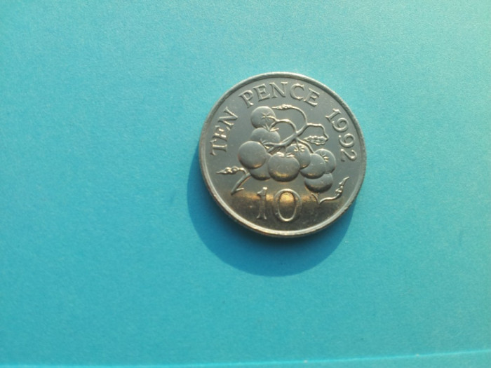 10 Pence 1992-Guernsey-XF+++AUNC