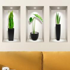 Sticker Decor Interior 3D Plante Moderne de Interior