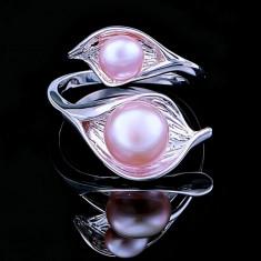 Inel din Argint 925 cu Perle Naturale, Aurora Purple