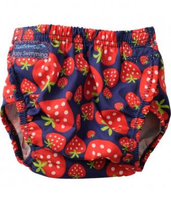Konfidence - Scutec inot refolosibil marime ajustabila 3-30 luni AquaNappy strawberry foto