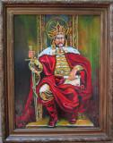 Tablou / Pictura Stefan cel Mare semnat Cimpoesu