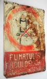 Avertisment tabla (13) PROTECTIA MUNCII - Fumatul si focul deschis