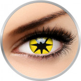Crazy Yellow Star - lentile de contact colorate galbene anuale - 360 purtari (2 lentile/cutie)