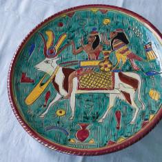 Farfurie de colectie ceramica Deruta Ars Artigiana