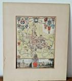 Harta Veche Originala Thomas Moul 1840 City And University Oxford