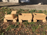 Trenulet german din lemn,executat manual