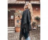 Esarfa dama Piuma Nero 130x180 cm - Chez Moi, Negru