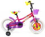 Bicicleta Copii DHS 1402, Cadru 7inch, Roti 14inch (Roz)