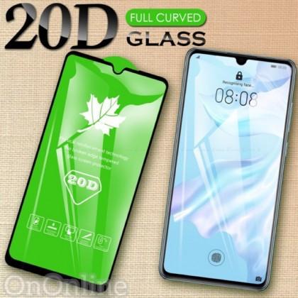 Folie Protectie ecran antisoc , Full Glue , Samsung A750 Galaxy A7 2018, Tempered Glass 20D , Full Face , Negru