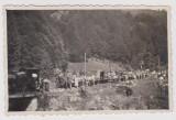 Foto 1935 , un popas cu trenul pe VALEA DRAGANULUI