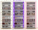 Suport pantofi dulap modern 21 perechi 7 rafturi, cadru otel, flori