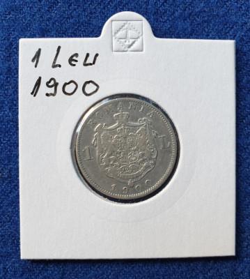 Moneda din Argint - 1 Leu 1900  Regele Carol - in stare buna foto