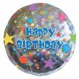 Balon folie 45 cm Happy Birthday Confetti FTB052