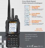 Statie radio WOUXUN KG-V55, REPETOR cross band UHF-VHF si SIM Card