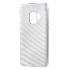 Husa Samsung S9 silicon carbon silver