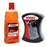 Pachet Sonax Sampon Auto Concentrat Pt Luciu 1L+Sonax Burete Spalare Auto 2 in 1