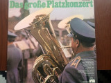 Das grose platzkonzert dublu disc vinyl 2 lp muzica militara armata marsuri, VINIL, ariola