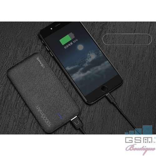 Acumulator Extern HTC U12+ Dual USB 10000mAh USAMS Mozaic Negru