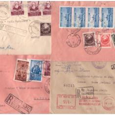Romania 1952-1959 - 4 plicuri circulate