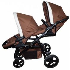 Carucior gemeni Lux 3 in 1 Brown PJ Stroller