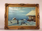 Tablou , ulei pe carton , Dabuleanu -60/80 cm ,semnat, Natura statica, Altul