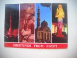 HOPCT  75422  ASPECTE DIN  EGIPT  -STAMPILOGRAFIE-CIRCULATA
