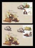 2010 Romania, 2 FDC Premiere mondiale I, Inventatori LP 1886, plicuri prima zi